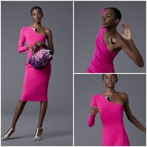 Diane von Furstenberg One Shoulder Knit Dress sz S